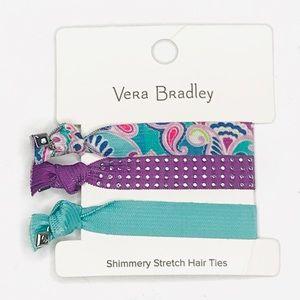 Vera Bradly Stretch Hair Ties Waikiki Paisley Blue